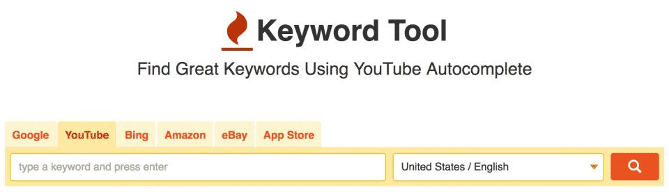 استعمال keywordtool.io للبحث عن الكلمات المفتاحية