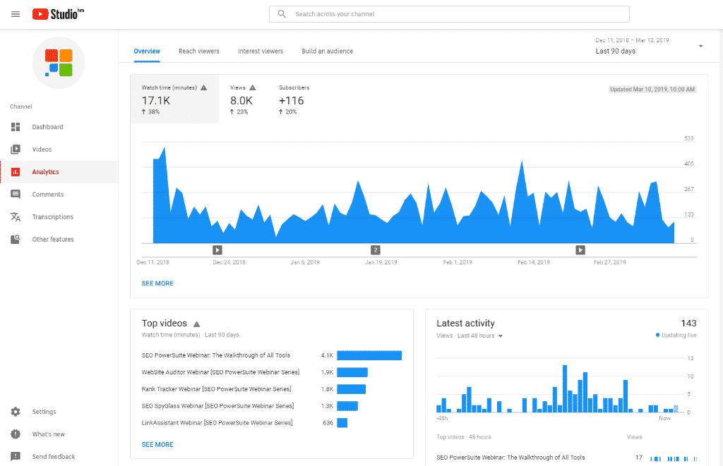 تحليلات يوتيوب | سيو يوتيوب