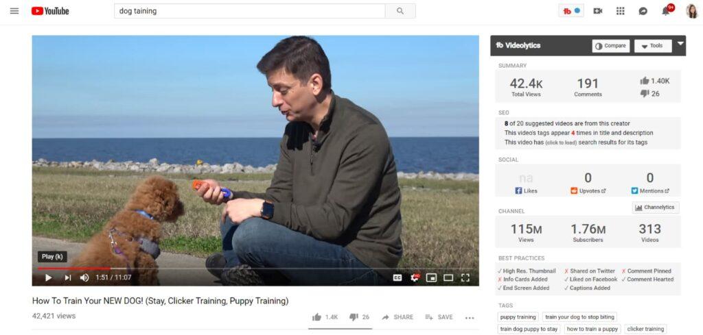 TubeBuddy هو الأفضل لإدارة قنوات اليوتيوب وتحسين الفيديو.